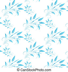 blue abstract leaves seamless background