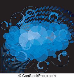 Vector illustration of blue abstract background. EPS10