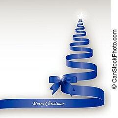 Blue Christmas ribbon tree