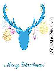blue head of deer