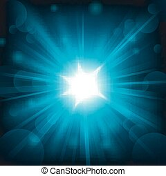 Blue light shining - Vector Illustration Of Blue light...