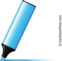 Vector illustration of blue marker