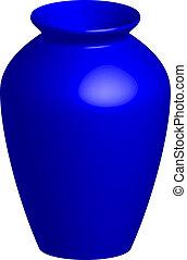 Vector illustration of blue vase