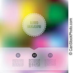 blurred color background