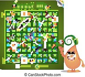 vector flat style illustration of kids amusement park board game