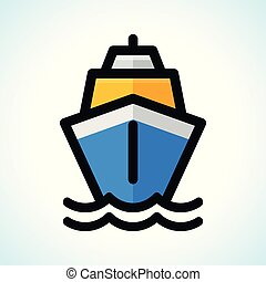 Vector illustration of boat icon