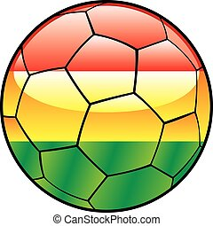 Bolivia flag on soccer ball