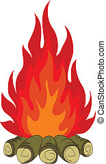 bonfire isolated for you design - vector illustration of...
