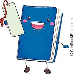 Book Mascot Holding Bookmark