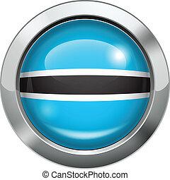 Botswana flag metal button