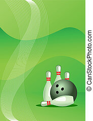 Vector illustration of bowling vector