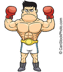 Boxing - Vector illustration of Boxing champion