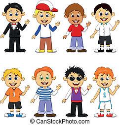 Boy cartoon collection set