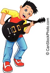 boy guitar player