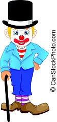 boy in clown costume cartoon