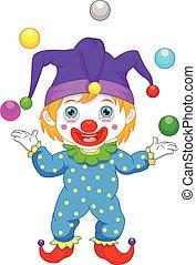 boy in clown cotume cartoon