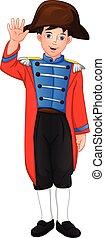 boy wearing carnival costume