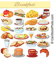Breakfast Menu Food Collection