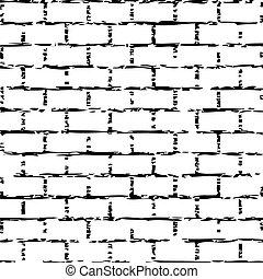 Vector illustration of brick wall
