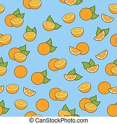 fresh oranges seamless