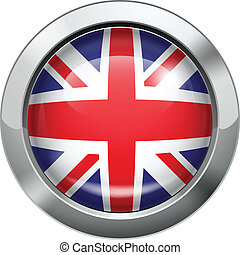 British flag metal button