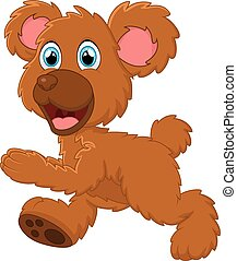 Brown bear cartoon
