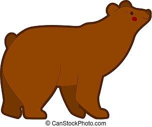 Vector illustration of brown bear