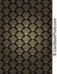 Vector illustration of brown luxury background