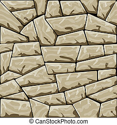 stone seamless pattern - Vector illustration of brown stone...