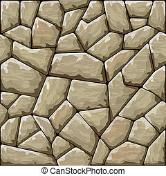 stone seamless pattern - Vector illustration of brown stone ...