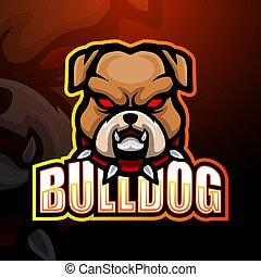 Bulldog mascot esport logo design