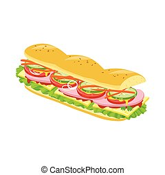 Isolated object of burger and hoagie logo. Graphic of burger and bun stock vector illustration.