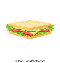 Isolated object of burger and hoagie sign. Graphic of burger and toast stock vector illustration.