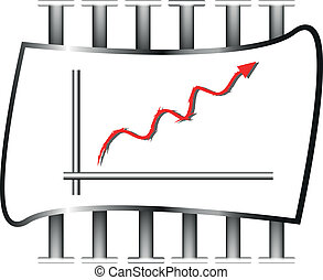 vector illustration of business chart.