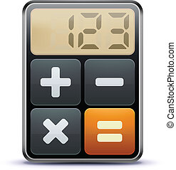 Vector illustration of business concept with calculator icon