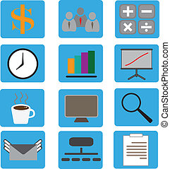 Vector illustration of business icons