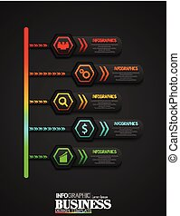 Business Infographic timeline process template