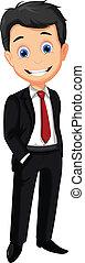 business man cartoon posing - vector illustration of...