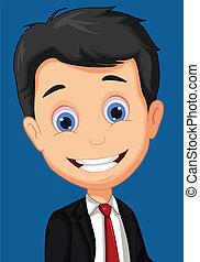 business man cartoon posing