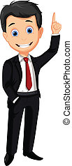 business man cartoon thumb up