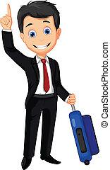 business man cartoon thumb up