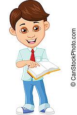 Businessman holding a book