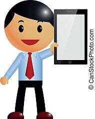 Businessman & smart phone