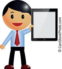 Businessman & tablet pc