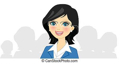 Vector illustration of businesswoman