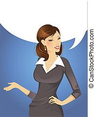 Businesswoman - Vector illustration of Businesswoman