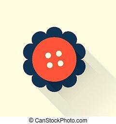 button flat style icon