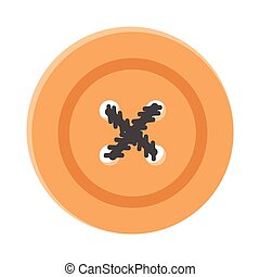 Vector illustration of button