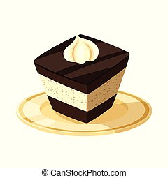 Vector illustration of cake and food symbol. Set of cake and dessert stock symbol for web.