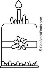Vector illustration of cake